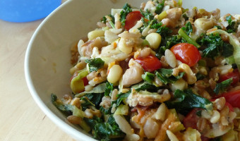 Orzo Salad with Feta & Pine Nuts