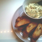 Creamy Vegetable Dip with Crunchy Toast
